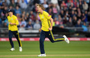 Chris Morris celebrates a breakthrough, Gloucestershire v Hampshire, Bristol, August 13, 2019