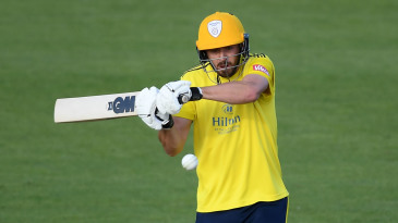 James Vince climbs into a pull shot