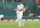 Trent Boult returns to his mark after dropping a dolly, Sri Lanka v New Zealand, 2nd Test, Colombo (PSS), 2nd day, August 23, 2019