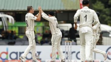 Tim Southee celebrates a wicket