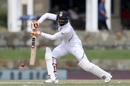 Ravindra Jadeja plays one on the off side, West Indies v India, 1st Test, North Sound, 2nd day, August 23, 2019