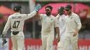 Ajaz Patel celebrates after making a breakthrough, Sri Lanka v New Zealand, second Test, Colombo (PSS), Day 3, August 24, 2019