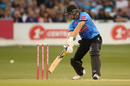 Luke Wright squeezes one away into the off side, Sussex v Surrey, Vitality Blast, South Group, Hove, July 26, 2019