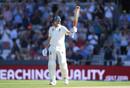 Joe Root raises his bat after reaching fifty, England v Australia, 3rd Ashes Test, Headingley, August 24, 2019