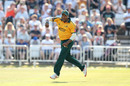 Samit Patel celebrates a run out, Nottinghamshire v Yorkshire, Vitality Blast, Trent Bridge, August 25, 2019