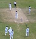 Jasprit Bumrah sends Darren Bravo's off stump cartwheeling, West Indies v India, 1st Test, North Sound, 4th day, August 25, 2019