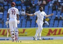 Mohammed Shami flattens Roston Chase's off stump, West Indies v India, 1st Test, North Sound, 4th day, August 25, 2019