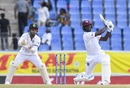 Kemar Roach goes for the big one, West Indies v India, 1st Test, Antigua, Day 4, August 25, 2019