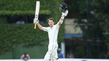 BJ Watling powered through to a Test match hundred in the morning