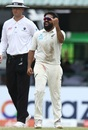 Ajaz Patel fist pumps after a wicket, Sri Lanka v New Zealand, 2nd Test, Colombo (PSS), Day 5, August 26, 2019