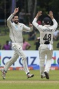 William Somerville is overjoyed after a key wicket, Sri Lanka v New Zealand, 2nd Test, Colombo (PSS), Day 5, August 26, 2019