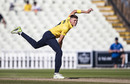 Henry Brookes bowls in front of a nearly-deserted Edgbaston as fans flocked to the concourse to watch Ben Stokes' heroics