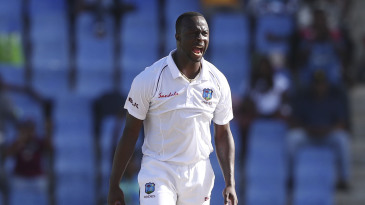 In Antigua, Kemar Roach made the batsmen play defensive shots more than any other fast bowler on either side