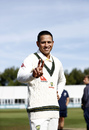Usman Khawaja poses at the toss, Derbyshire v Australians, Tour Match, Derby, August 29, 2019