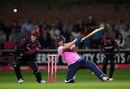 AB de Villiers unleashes while down on one knee, Somerset v Middlesex, Vitality Blast, South Group, Taunton, August 30, 2019
