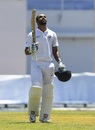 Hanuma Vihari looks skywards after his maiden Test century, West Indies v India, 2nd Test, Kingston, 1st day, August 31, 2019