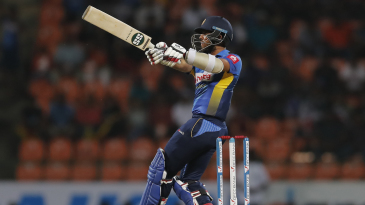 Kusal Mendis went after the bowlers in the Powerplay