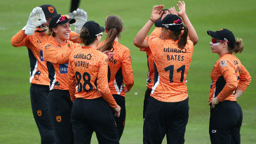 Southern Vipers celebrate a wicket