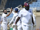 Mohammad Shami took the first wicket of the third day, West Indies v India, 2nd Test, Kingston, September 1, 2019