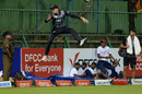 Mitchell Santner leaps in vain, Sri Lanka v New Zealand, 1st T20I, Pallekele, September 1, 2019