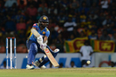 Niroshan Dickwella goes for a scoop, Sri Lanka v New Zealand, 1st T20I, Pallekele, September 1, 2019
