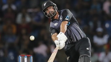 Colin de Grandhomme swings hard