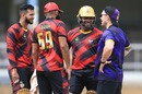 Brian Lara and Brendon McCullum compare notes, Bravo XI v Pollard XI, Selectors Fan Cup, Port of Spain, September 1, 2019