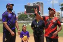 Brian Lara flips the coin at the toss, Bravo XI v Pollard XI, Selector Fans Cup, Port of Spain, September 1, 2019