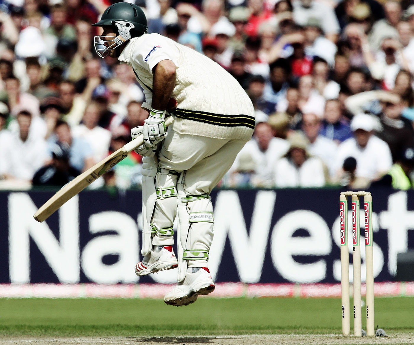 Gut punch: in 2005, Ponting became the first Australian captain to lose an Ashes since 1986-87, but not before he had fought hard to score a century and draw the Old Trafford Test