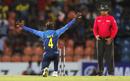 Akila Dananjaya struck struck twice in his second over, Sri Lanka v New Zealand, 2nd T20I, Pallekele, September 3, 2019
