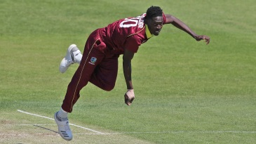 Chemar Holder in action for West Indies A against India A