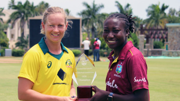 Meg Lanning and Stafanie Taylor ahead of the one-day series