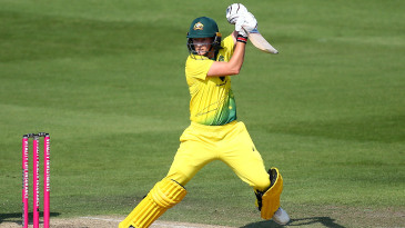 Meg Lanning struck four sixes in her 13th ODI hundred