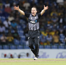 Todd Astle goes up in an appeal, Sri Lanka v New Zealand, 3rd T20I, Pallekele, September 6, 2019