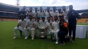 The victorious India Red team with the Duleep Trophy