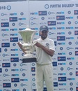 India Red captain Priyank Panchal with the Duleep Trophy, India Red v India Green, Duleep Trophy final, Bengaluru, September 7, 2019