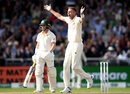 Stuart Broad pinned Marcus Harris lbw for the second time in the match, England v Australia, 4th Test, Day 4, Manchester, September 7, 2019