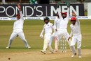 The Afghanistan players go up in appeal for Mushfiqur Rahim's wicket, Bangladesh v Afghanistan, Only Test, Chattogram, 4th day, September 8, 2019