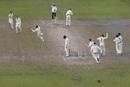 Australia celebrate as Marnus Labuschagne dismisses Jack Leach, Craig Overton throws his head in despair, England v Australia, 4th Test, Old Trafford, 5th day, September 8, 2019
