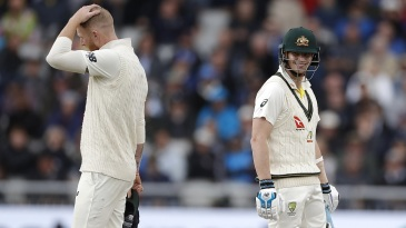 Steven Smith looks pleased enough with life, but Ben Stokes doesn't