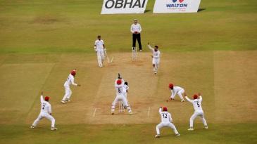 Rashid Khan appeals for Mehidy Hasan Miraz's wicket