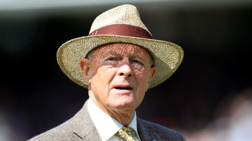 Geoffrey Boycott on the outfield at Lord's