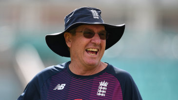 Trevor Bayliss in the nets at The Oval