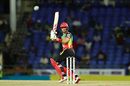 Laurie Evans tucks the ball behind square, St Kitts and Nevis Patriots v Jamaica Tallawahs, Basseterre, CPL 2019, September 10, 2019