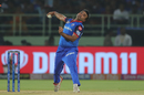 Amit Mishra of Delhi Capitals bowling during the eliminator match of the Vivo Indian Premier League Season 12, 2019 between the Delhi Capitals and the Sunrisers Hyderabad held at the ACA-VDCA Stadium, Visakhapatnam on the 8th May 2019