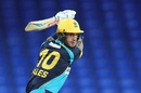 Alex Hales plays a cut, St Kitts and Nevis Patriots v Barbados Tridents, CPL 2019, Basseterre, September 11, 2019