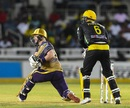 Colin Munro pulls out the switch hit, Jamaica Tallawahs v Trinbago Knight Riders, CPL 2019, Kingston, September 13, 2019