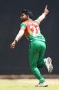 Shamim Hossain celebrates a wicket, Bangladesh U-19s v India U-19s, Under-19 Asia Cup final, Colombo, September 14, 2019