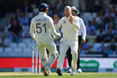 Jack Leach celebrates with Jonny Bairstow after dismissing Marnus Labuschagne, England v Australia, 5th Test, The Oval, September 15, 2019