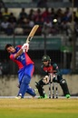 Asghar Afghan belts it over the top, Bangladesh v Afghanistan, T20I tri-series, Dhaka, September 15, 2019